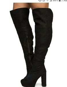 Womens bamboo over the knee high boots size 6